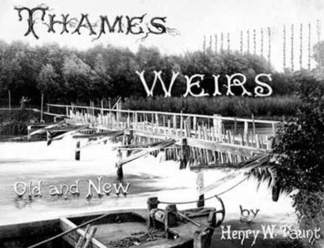 Bray Old Weir, 1883 – with title page lettering for guidebook: Thames weirs, old and new