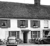 The Fox Inn, Sandford on Thames. Morris Minor 1000 parked outside. 1950-1959