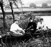 Boating on the Thames on August Bank Holiday, 1894
