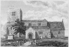 Demolished Church of Bladon, 1823
