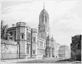 West Front of Christ Church, Oxford, 1833