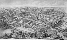 Bird's-eye view of the University and City of Oxford, 1845